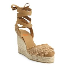 Pin for Later: The New Shoe of Summer Is a Throwback You Haven't Thought of in Years  Castañer Cala Feathered Canvas Espadrille Wedge Sandals ($200)