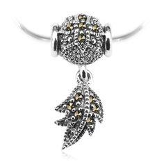 Srebrny wisiorek z markazytem piórko - Biżuteria srebrna dla każdego tania w sklepie internetowym Silvea