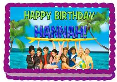 Teen Beach Movie 1/4 Sheet Edible Photo Birthday Cake Topper. ~ Personalized! *** You can get more details at : baking decorations