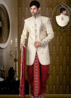 Wholesale Rajasthani Dhoti Sherwani Collection Online  Bulk catalog shopping @ http://www.suratwholesaleshop.com/9505-Stylish-Brocade-Lemon-Dhoti-Sherwani?view=catalog  #menswear #menssherwani #groomsherwani #wholesalesherwani #bulksherwani #groomsherwani #traditionalsalwarsuits #stylishsherwani
