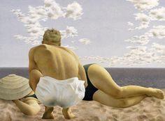 Alex Colville - Couple on a Beach, 1951