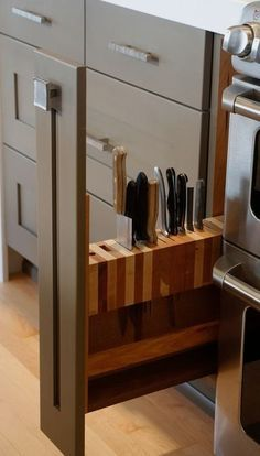 #homedecor #kitchenideas #inspiration   Photo of a mid-sized transitional l-shaped open concept kitchen in Seattle with recessed-panel cabinets, gray cabinets, quartz countertops, stainless steel appliances, light hardwood floors, an undermount sink, blue backsplash, ceramic backsplash and an island. — Houzz Source ...