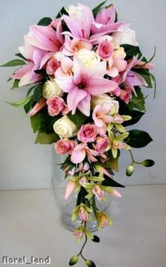 wedding flower orchid bouquet latex silk bouquets lily