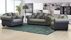 This 3 piece lounge suite seats 6 guests comfortably. Free scatter cushions add to its two-tone features and affordability. Cosy Lounge, Lounge Suites, Outdoor Furniture Sets, Outdoor Decor, Scatter Cushions, Wingback Chair, King Size, Fabric Design, Modern