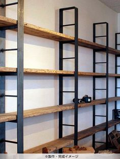 Industrial Style Furniture, Metal Furniture, Home Decor Furniture, Furniture Design, Shelf Design, Wall Design, Multipurpose Furniture, Store Design, Metal Walls