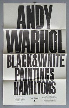 Andy Warhol poster, John Morgan studio #typography