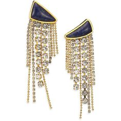 Lizzie Fortunato Blue Moon Quartzite Tassel Drop Earrings ($94) ❤ liked on Polyvore featuring jewelry, earrings, accessories, drop earrings, apparel & accessories, rhinestone earrings, blue earrings, star earrings, blue tassel earrings and rhinestone drop earrings