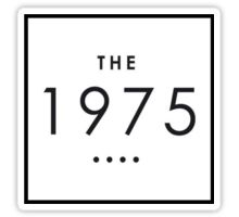 THE 1975 Sticker