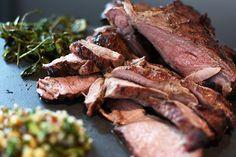 Butterflied Leg of Lamb with Ancient Grains Salad - Weber Weber Q Recipes, Lamb Recipes, Meat Recipes, Charcoal Recipe, Bbq Lamb, French Green Lentils, Barbecue Sides