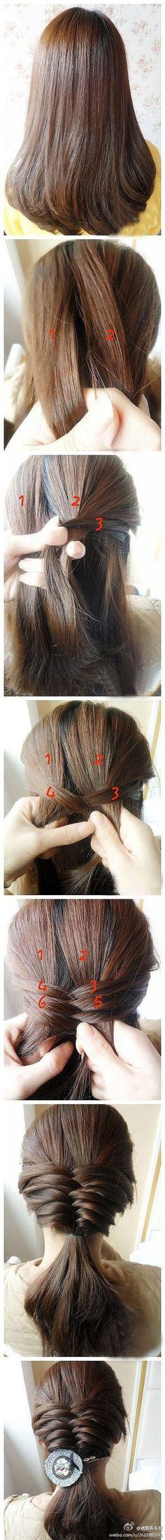French fishtail braid.