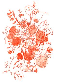 LIANA JEGERS (sketch of roses)