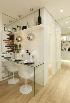 MAC_Now Studios Ipiranga 34m²: Salas de jantar modernas por Chris Silveira & Arquitetos Associados