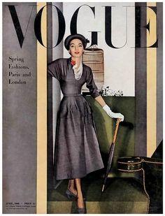The Vintage Vogue Cover Vogue Magazine Covers, Fashion Magazine Cover, Fashion Cover, 1940s Fashion, Vogue Fashion, Gothic Fashion, High Fashion, Vogue Vintage, Vintage Vogue Covers