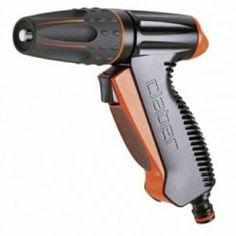 #Pistolet d'arrosage monojet avec jet réglable et poignée ergonomique.