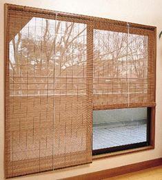Calidez con persianas de bambú