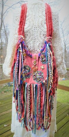 Handmade Coral Suede Hippie Gypsy Bag Purse Fringe Pearls Festival #Handmade #Crossbody Hippie Purse, Hippie Man, Hippie Gypsy, Fringe Purse, Fringe Bags, Gypsy Bag, Ibiza, Leather Purses, Cross Body