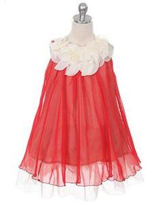 e387d8e54 Yaya Fairies Efavormart Chic Chiffon Flower Girl Dress With Ivory Flower  Neckline Girls Party Dress,