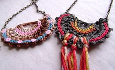 The Indie Handmade Show: crocheted necklace ideas