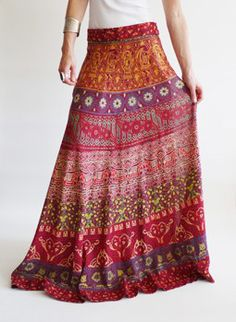 Seventies vintage Indian hippie skirt @ www. Gypsy Style, Boho Gypsy, Hippie Style, Bohemian Style, My Style, Estilo Hippie Chic, Hippy Chic, Boho Chic, Indian Skirt