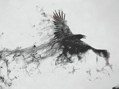 Image result for raven watercolor tattoo