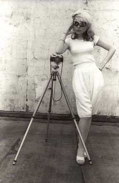 Debbie Harry with a Pentax, 1978