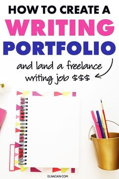 Create a writing portfolio as a freelance writer and land a freelance writing job. Super simple way and the best way to build your writing portfolio as a freelancer. #workfromhome #writing… More