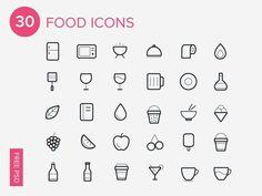 30 Foods Icons-Free Icon Set par zeuero