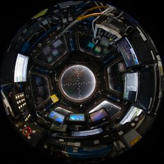 International Space Station Cupola with robotic workstation