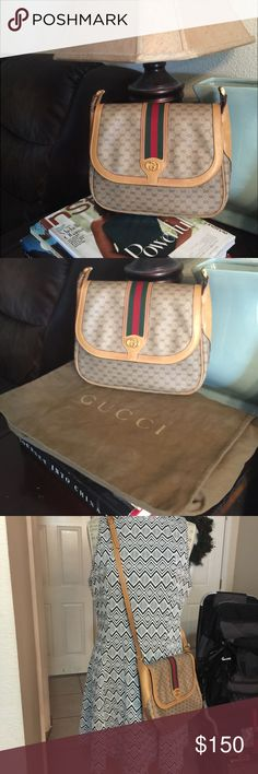 Preowned Gucci's !!! Bundle Have some stain in the leather☝️️ check picture pls for info and will be adding some more picture later for satisfaction :)) if I rate this beauty 1-10 will be 8 almost new ! Well taken care off with the dust bag 💼 if you are perfectionist pls don't want it coz it show the normal wear off of the beauty close in your face, seriously the lining inside is peeling off too but not to the point it's flying dust when opening this vintage bag. I used and love it but…
