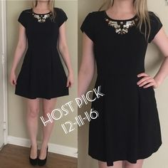 Banana Republic black embellished neck dress Very beautiful dress! Excellent condition Banana Republic Dresses Mini