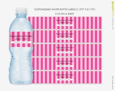 Victorias Secret Themed Pink Stripes Water by SupermimiDesign