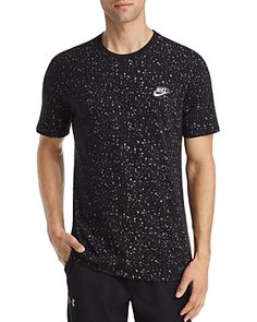 NIKE TABLE 3 SPLATTER-PRINT TEE. #nike #cloth # Printed Tees, Nike Men, Chef Jackets, Mens Fashion, Grey, Table, Clothes, Collection, Shopping