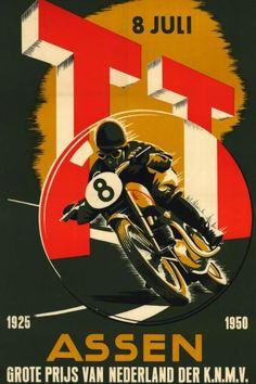 1950 Dutch TT Assen 25th Anniversary Poster