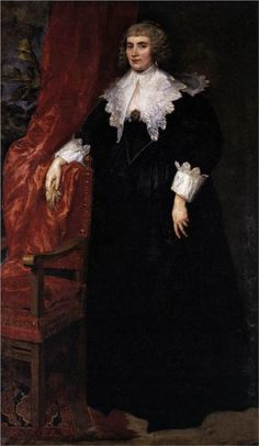 Anthony van Dyck, Portrait of Anna van Craesbecke, 1635