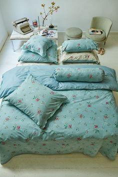 Granny Pip Dekbedovertrek Kleur:green,groen Dessin:antiek,bloem Bedcover