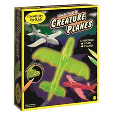 Glow-in-the-Dark Creature Planes - Powered by you! These throw-and-go foam planes are perfect for active play – indoors or out.