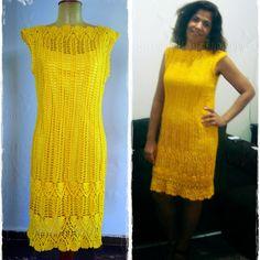 louca por linhas - crochet e patchwork: Vestido Ano Novo