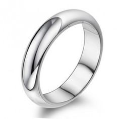 Womens Sterling Silver Plain Ring Bands 5mm