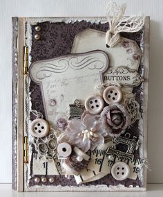 mini altered book box