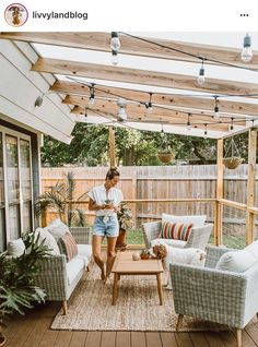 Did you want make backyard looks awesome with patio? e can use the patio to relax with family other than in the family room. Here we present 40 cool Patio Backyard ideas for you. Hope you inspiring & enjoy it . Outdoor Decor, House Design, Home, Outdoor Space, Patio Design, Patio Rugs, New Homes, Outdoor Rugs Patio, Lets Stay Home