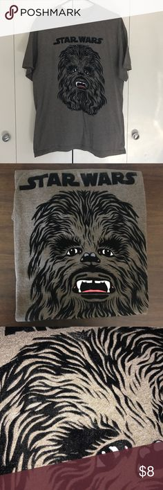 Men's Star Wars shirt Brown with black velvet writing and image. Star Wars Shirts Tees - Short Sleeve