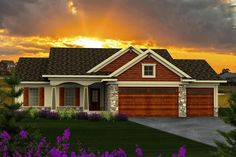 Ranch Elevation of Plan 96120
