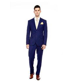 Brahaan BLUE TAG Royal Blue Slim Fit Single-Breasted Formal Suit
