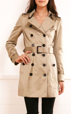 Love a trench coat, esp an updated look like this one!