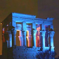 Beautiful Night View Of Kiosk Of Trajan .... Philae Temples, Aswan ♥