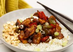 Chinese Kung Po Kai: pittige kip met cashewnoten en rijst - Culy.nl Healthy Slow Cooker, Healthy Crockpot Recipes, A Food, Food And Drink, Good Food, I Want Food, Caribbean Recipes, Middle Eastern Recipes, Indonesian Food