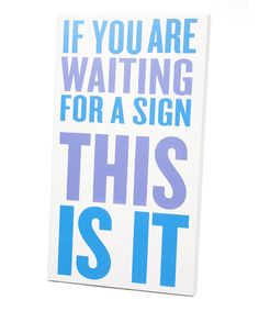Purple & Blue 'This Is It' Wall Art | Daily deals for moms, babies and kids
