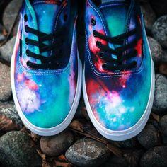 Vans Cosmic Nebula Authentic Lo Pro - $55