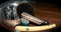 Puma 5/8  Ceramic Handle Badger Brush (Thanks Stuart)  Vintage Yardley Soap (Thanks Mara-SWMBO)  TSD Iced Energy Splash