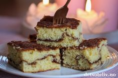 Kanelbollekake i langpanne - min side Recipe Boards, Tiramisu, Cheesecake, Food And Drink, Yummy Food, Baking, Ethnic Recipes, Delicious Food, Cheesecakes